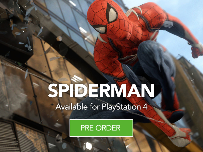 Pre Order Spiderman for PS4 at Monster Shop
