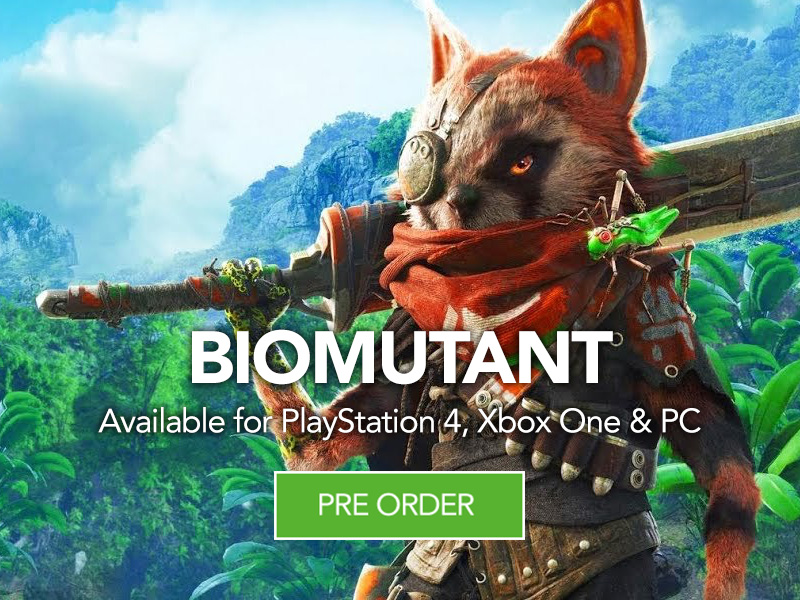 Pre Order Biomutant for Playstation 4 Xbox One and PC at Monster Shop