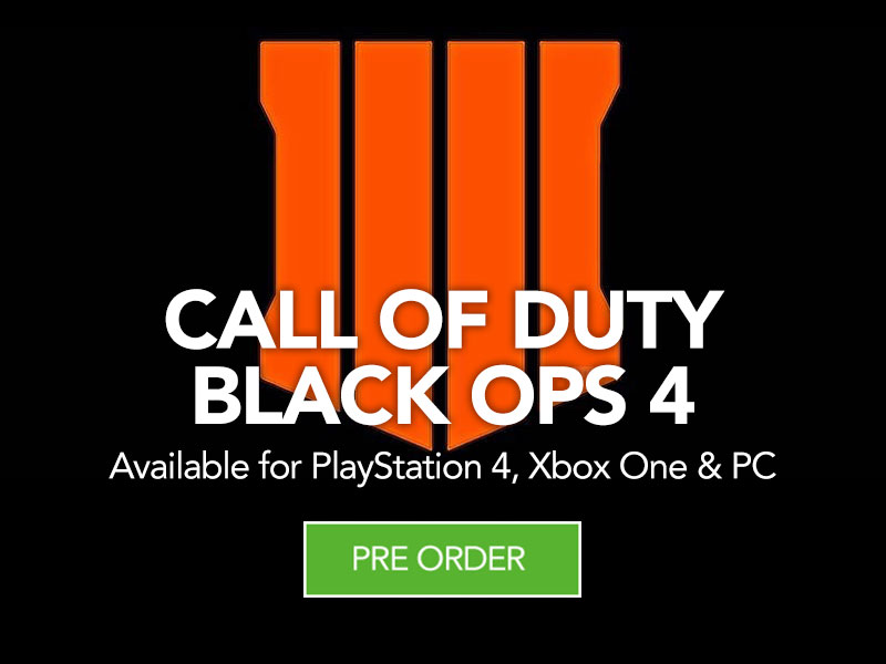 PreOrder Call of Duty Black Ops 4 for PS4, Xbox One and PC at Monster Shop