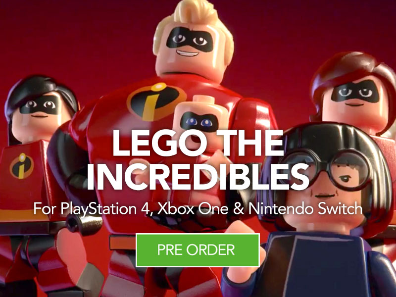 Pre Order LEGO The Incredibles at Monster Shop for PS4 Xbox One and Nintendo Switch