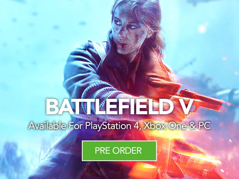 PreOrder Battlefield V at Monster Shop for PlayStation 4, Xbox One and PC