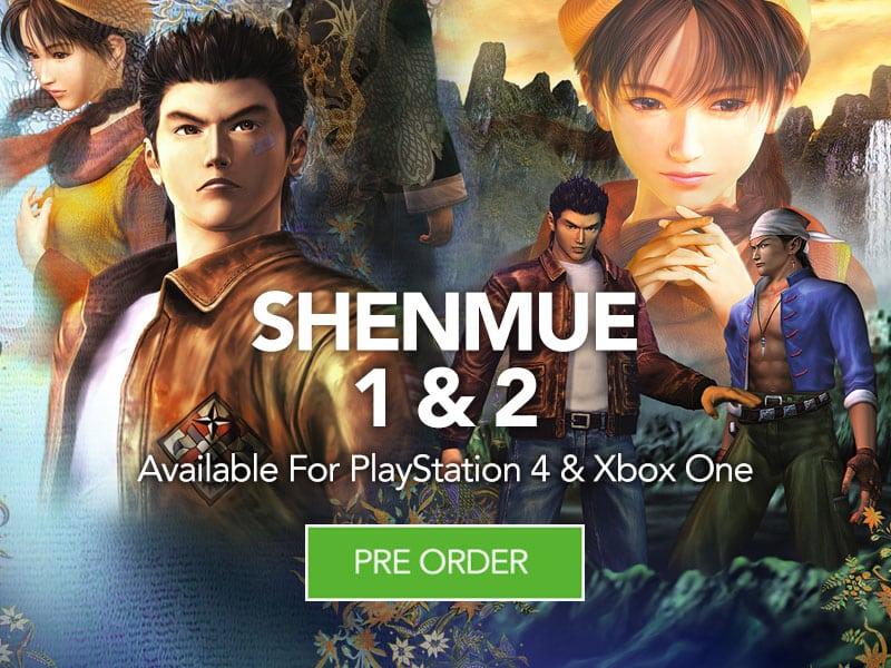 Pre Order Shenmue 1 & 2 at Monster Shop