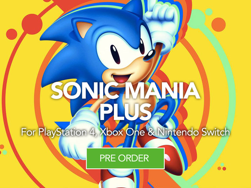 Pre Order Sonic Mania Plus at Monster Shop