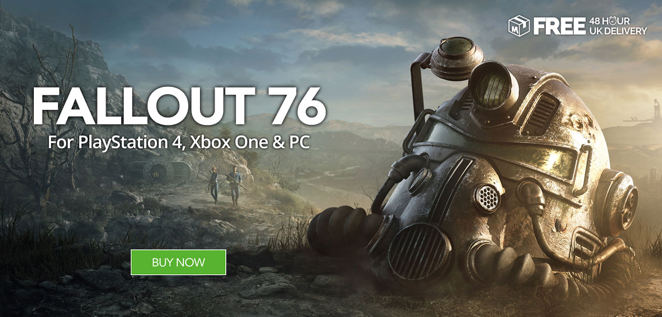 Buy Fallout 76 at Monster Shop for PS4 Xbox One and PC