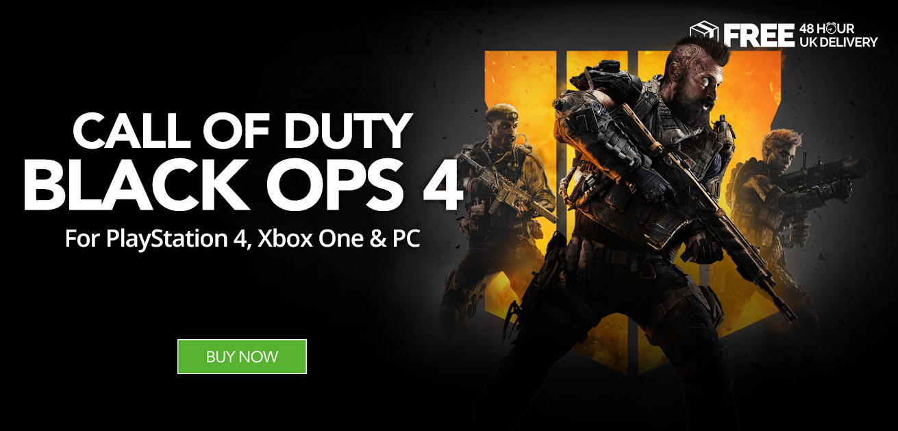 Buy Call of Duty Black Ops 4 at Monster Shop for PS4 Xbox One and PC