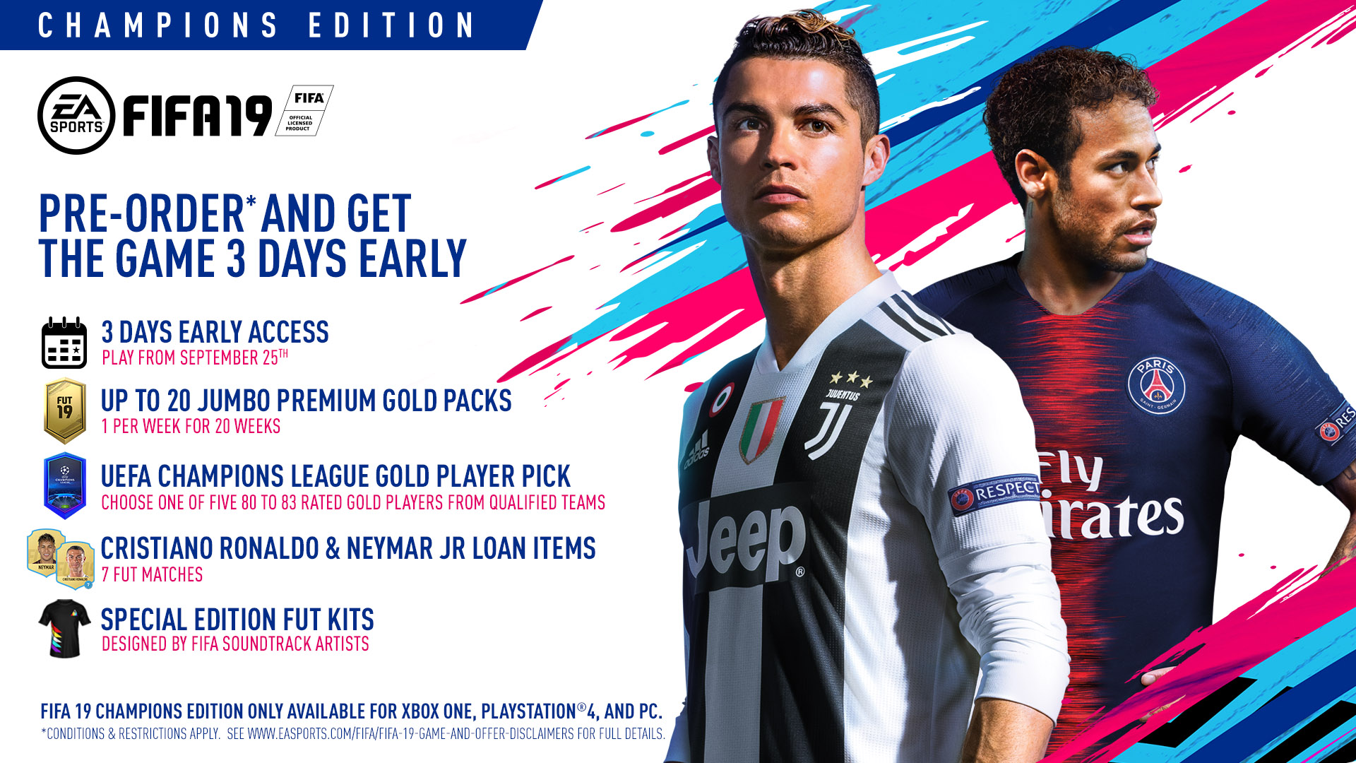Pre Order FIFA 19 at Monster Shop on PlayStation 4, Xbox One and Nintendo Switch